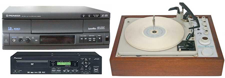 DVD laserdisc KLH turntable