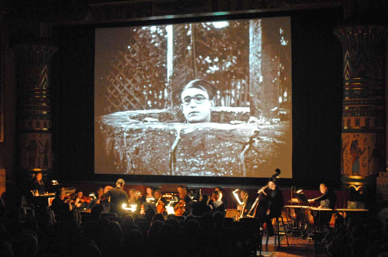 silent film orchestral scores