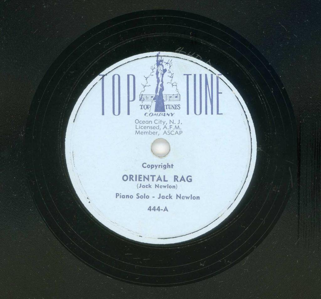 Jack Newlon Oriental Blues rag
