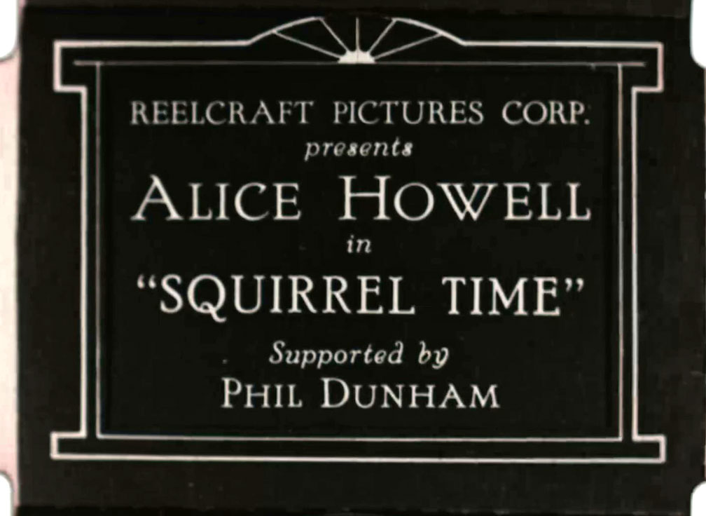Alice Howell in Squirrel Time