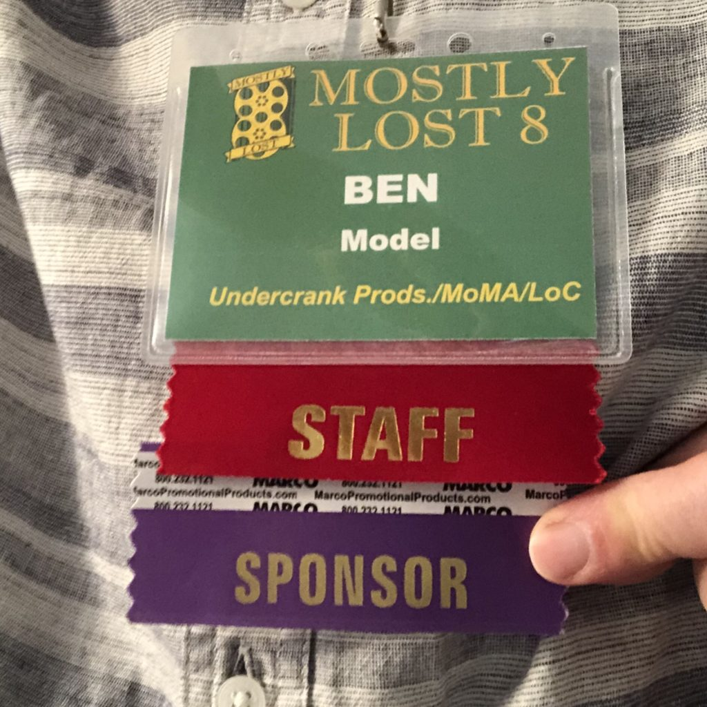 Mostly Lost name badge