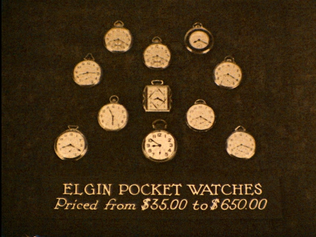 Elgin pocket watches 1931