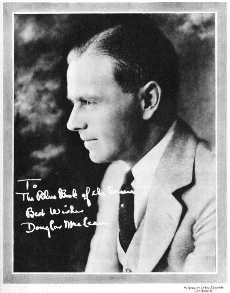 Douglas MacLean portrait 1924