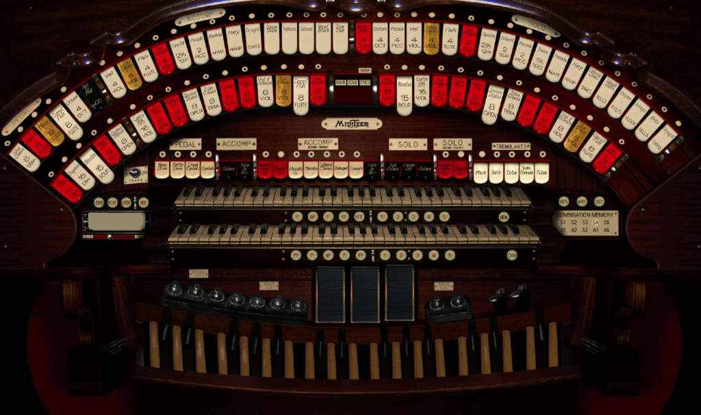 Miditzer organ console