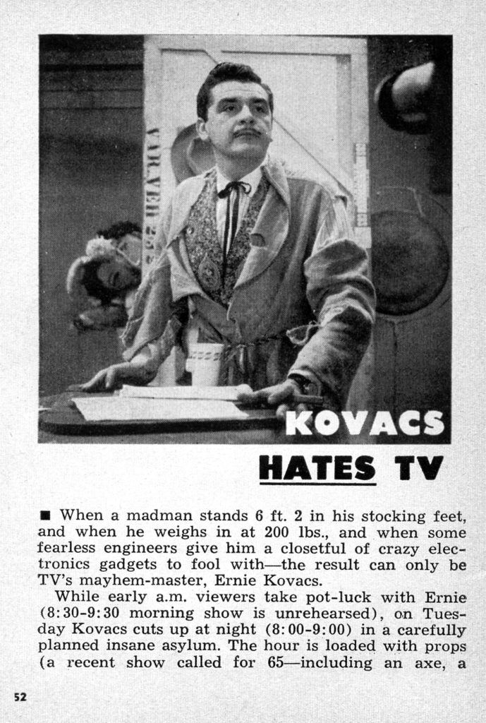 Kovacs Hates TV