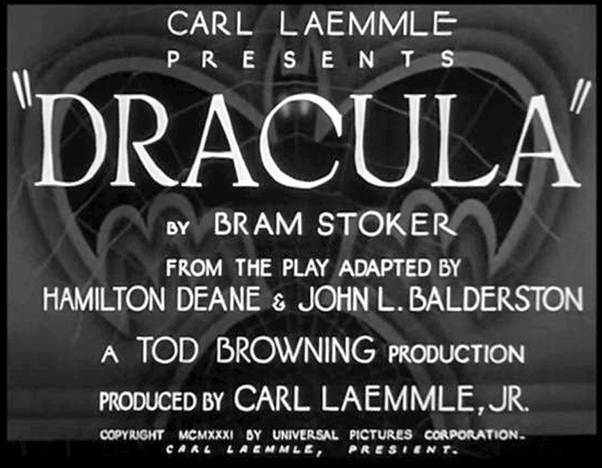 Dracula 1931 Bela Lugosi main title
