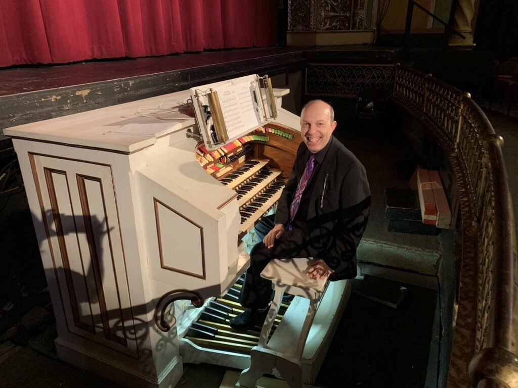 Ben Model at the Möller theatre organ at the Capitol Theater in Rome NY