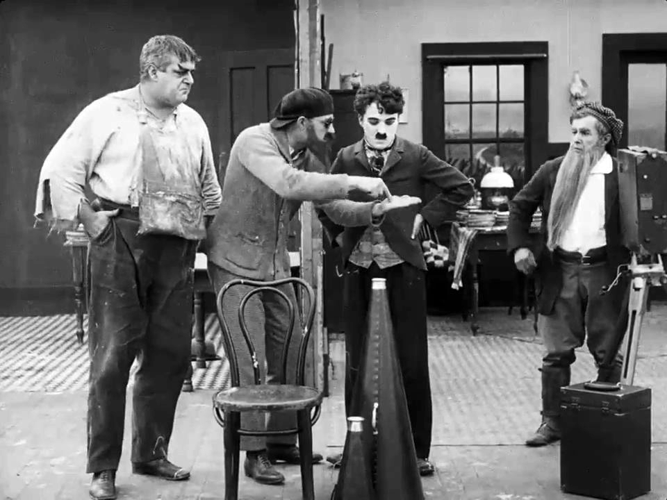 Charlie Chaplin pie fight steps