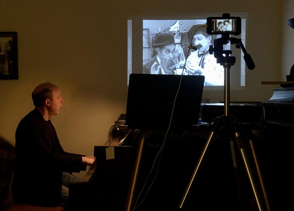Ben Model silent film live-stream